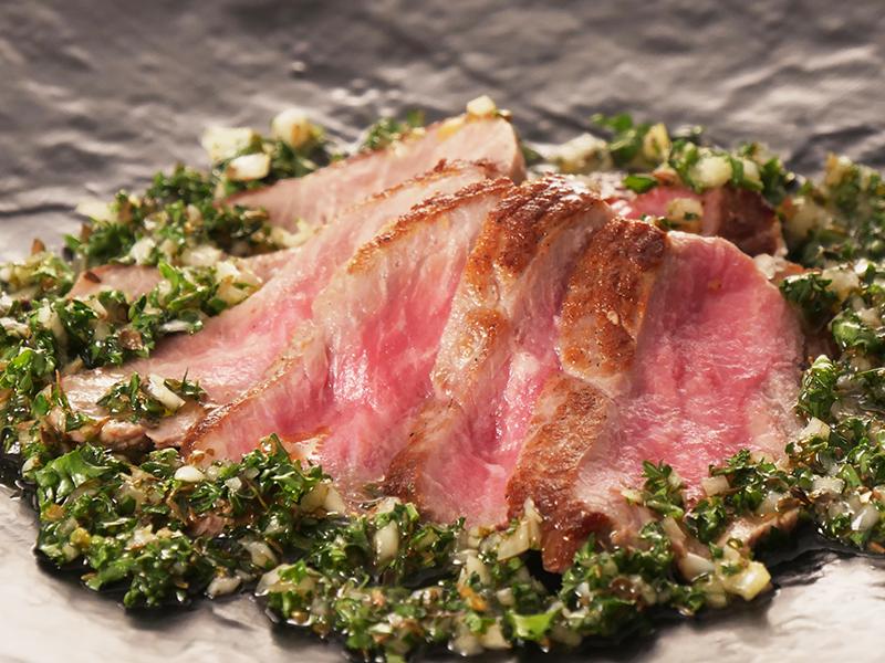 牛肉のチュミチュリ焼き