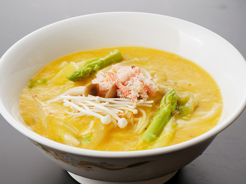 上海蟹味噌和え麺