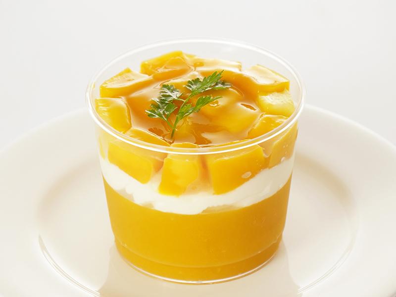 マンゴーとパイナップルのムース