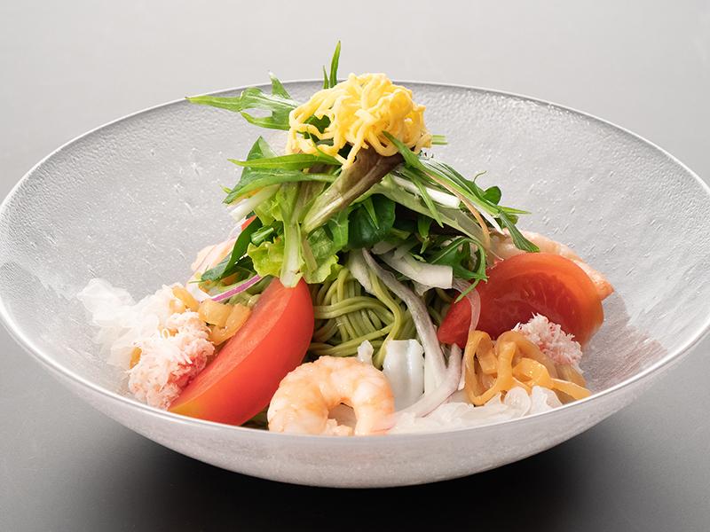 海鮮翡翠冷やし麺